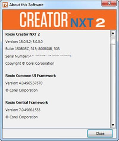 Corel Roxio Creator NXT 2 v15.0 Multilingual