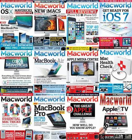Macworld (UK) Magzine 2013 Full Year Collection