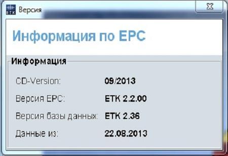 BMW ETK ( v.2.2.00, Multi + RUS, 09/2013 )