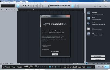 Presonus - Studio One Pro v.2.6.2 + Русификатор (Cracked)