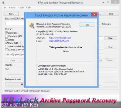 KRyLack RAR Password Recovery 3.53.65 Final. Скриншот №2