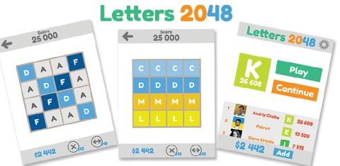 [Android] Letters 2048: Веселые Буквы - v1.00 (2014) [ENG]