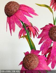 Цветы из мешковины, джута, шпагата 6f0fc615dc847950f26b0e93893d5f79